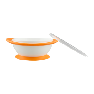 NUK No-mess Suction Bowls orange